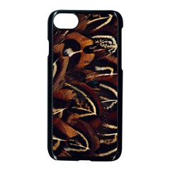Feathers Bird Black Apple Iphone 7 Seamless Case (black) by Simbadda