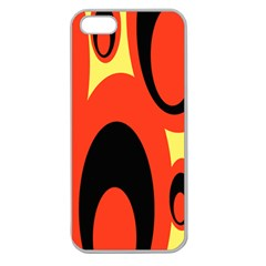Circle Eye Black Red Yellow Apple Seamless Iphone 5 Case (clear) by Alisyart