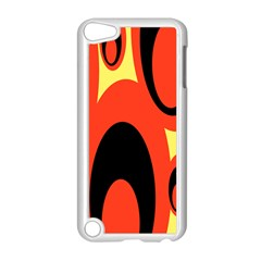 Circle Eye Black Red Yellow Apple Ipod Touch 5 Case (white)