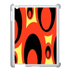 Circle Eye Black Red Yellow Apple Ipad 3/4 Case (white)
