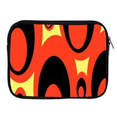 Circle Eye Black Red Yellow Apple Ipad 2/3/4 Zipper Cases by Alisyart