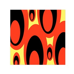 Circle Eye Black Red Yellow Small Satin Scarf (square)