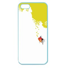 Fish Underwater Yellow White Apple Seamless Iphone 5 Case (color) by Simbadda