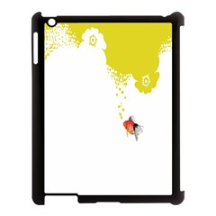 Fish Underwater Yellow White Apple Ipad 3/4 Case (black) by Simbadda