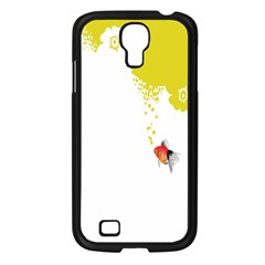 Fish Underwater Yellow White Samsung Galaxy S4 I9500/ I9505 Case (black) by Simbadda