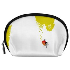 Fish Underwater Yellow White Accessory Pouches (large)