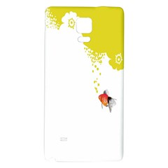 Fish Underwater Yellow White Galaxy Note 4 Back Case by Simbadda