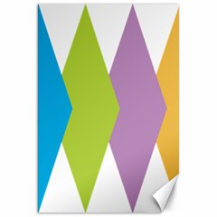 Chevron Wave Triangle Plaid Blue Green Purple Orange Rainbow Canvas 20  X 30   by Alisyart