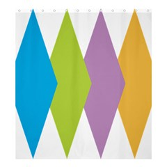 Chevron Wave Triangle Plaid Blue Green Purple Orange Rainbow Shower Curtain 66  X 72  (large)  by Alisyart