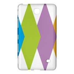 Chevron Wave Triangle Plaid Blue Green Purple Orange Rainbow Samsung Galaxy Tab 4 (8 ) Hardshell Case  by Alisyart