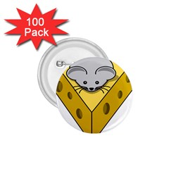 Cheese Mose Yellow Grey 1 75  Buttons (100 Pack)  by Alisyart