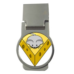 Cheese Mose Yellow Grey Money Clips (round)