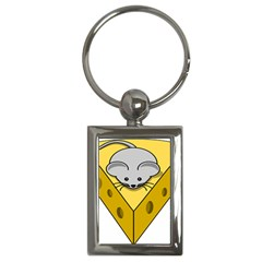Cheese Mose Yellow Grey Key Chains (rectangle)  by Alisyart