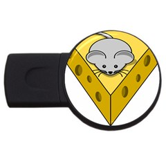 Cheese Mose Yellow Grey Usb Flash Drive Round (2 Gb) by Alisyart