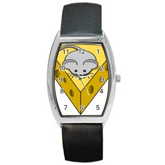Cheese Mose Yellow Grey Barrel Style Metal Watch by Alisyart