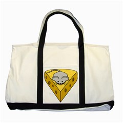 Cheese Mose Yellow Grey Two Tone Tote Bag by Alisyart