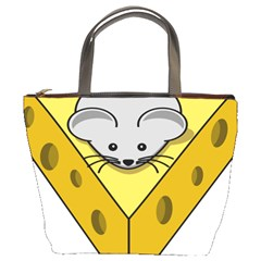 Cheese Mose Yellow Grey Bucket Bags by Alisyart