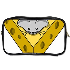 Cheese Mose Yellow Grey Toiletries Bags 2 Side by Alisyart