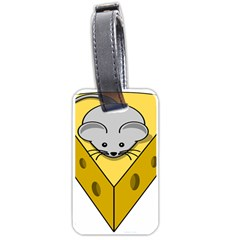 Cheese Mose Yellow Grey Luggage Tags (two Sides) by Alisyart