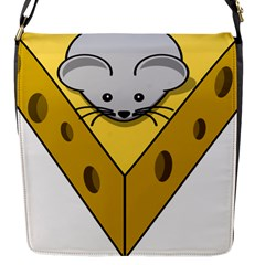 Cheese Mose Yellow Grey Flap Messenger Bag (s)