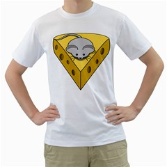 Cheese Mose Yellow Grey Men s T Shirt (white)