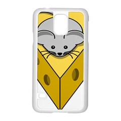 Cheese Mose Yellow Grey Samsung Galaxy S5 Case (white)