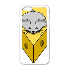 Cheese Mose Yellow Grey Apple Iphone 6/6s White Enamel Case