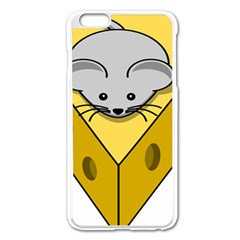Cheese Mose Yellow Grey Apple Iphone 6 Plus/6s Plus Enamel White Case by Alisyart