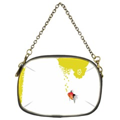 Fish Underwater Yellow White Chain Purses (two Sides)  by Simbadda