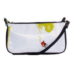 Fish Underwater Yellow White Shoulder Clutch Bags by Simbadda