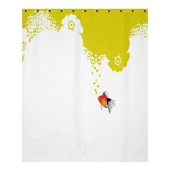 Fish Underwater Yellow White Shower Curtain 60  X 72  (medium)