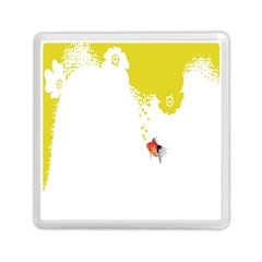 Fish Underwater Yellow White Memory Card Reader (square)  by Simbadda