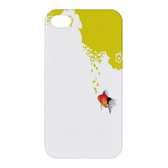 Fish Underwater Yellow White Apple Iphone 4/4s Premium Hardshell Case by Simbadda