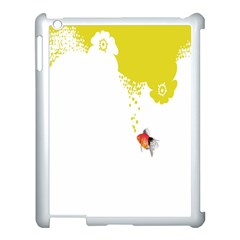 Fish Underwater Yellow White Apple Ipad 3/4 Case (white) by Simbadda