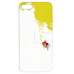 Fish Underwater Yellow White Apple Iphone 5 Hardshell Case With Stand by Simbadda
