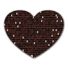 Cubes Small Background Heart Mousepads by Simbadda