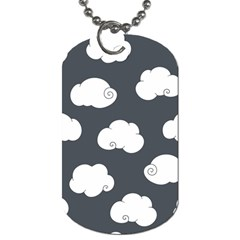 Cloud White Gray Sky Dog Tag (one Side) by Alisyart