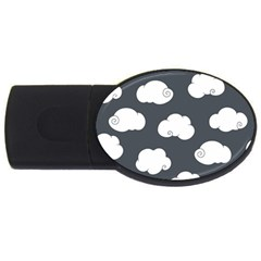Cloud White Gray Sky Usb Flash Drive Oval (2 Gb) by Alisyart