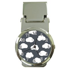 Cloud White Gray Sky Money Clip Watches by Alisyart