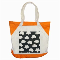 Cloud White Gray Sky Accent Tote Bag by Alisyart