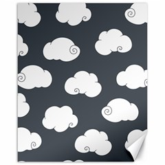 Cloud White Gray Sky Canvas 16  X 20   by Alisyart