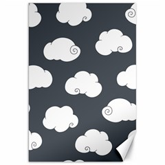 Cloud White Gray Sky Canvas 20  X 30   by Alisyart