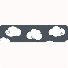 Cloud White Gray Sky Large Bar Mats by Alisyart