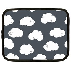 Cloud White Gray Sky Netbook Case (large)