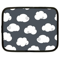 Cloud White Gray Sky Netbook Case (xl)  by Alisyart