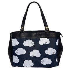 Cloud White Gray Sky Office Handbags by Alisyart