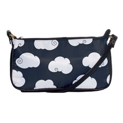 Cloud White Gray Sky Shoulder Clutch Bags