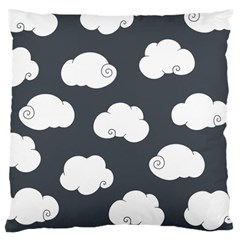 Cloud White Gray Sky Large Cushion Case (two Sides) by Alisyart