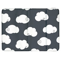 Cloud White Gray Sky Samsung Galaxy Tab 7  P1000 Flip Case by Alisyart