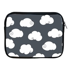 Cloud White Gray Sky Apple Ipad 2/3/4 Zipper Cases by Alisyart
